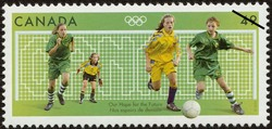 Football (Soccer), Our Hope for the Future Canada Postage Stamp | 2004 Olympic Summer Games