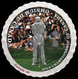 Golf - Putting Canada Postage Stamp | Open Championship of Canada