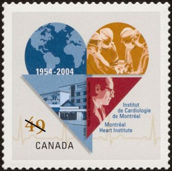 Montreal Heart Institute, 1954-2004, Paul David, founder Canada Postage Stamp