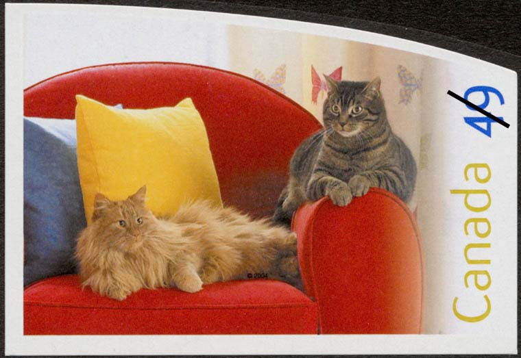 Cats Canada Postage Stamp   Pets