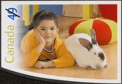 Rabbit Canada Postage Stamp   Pets