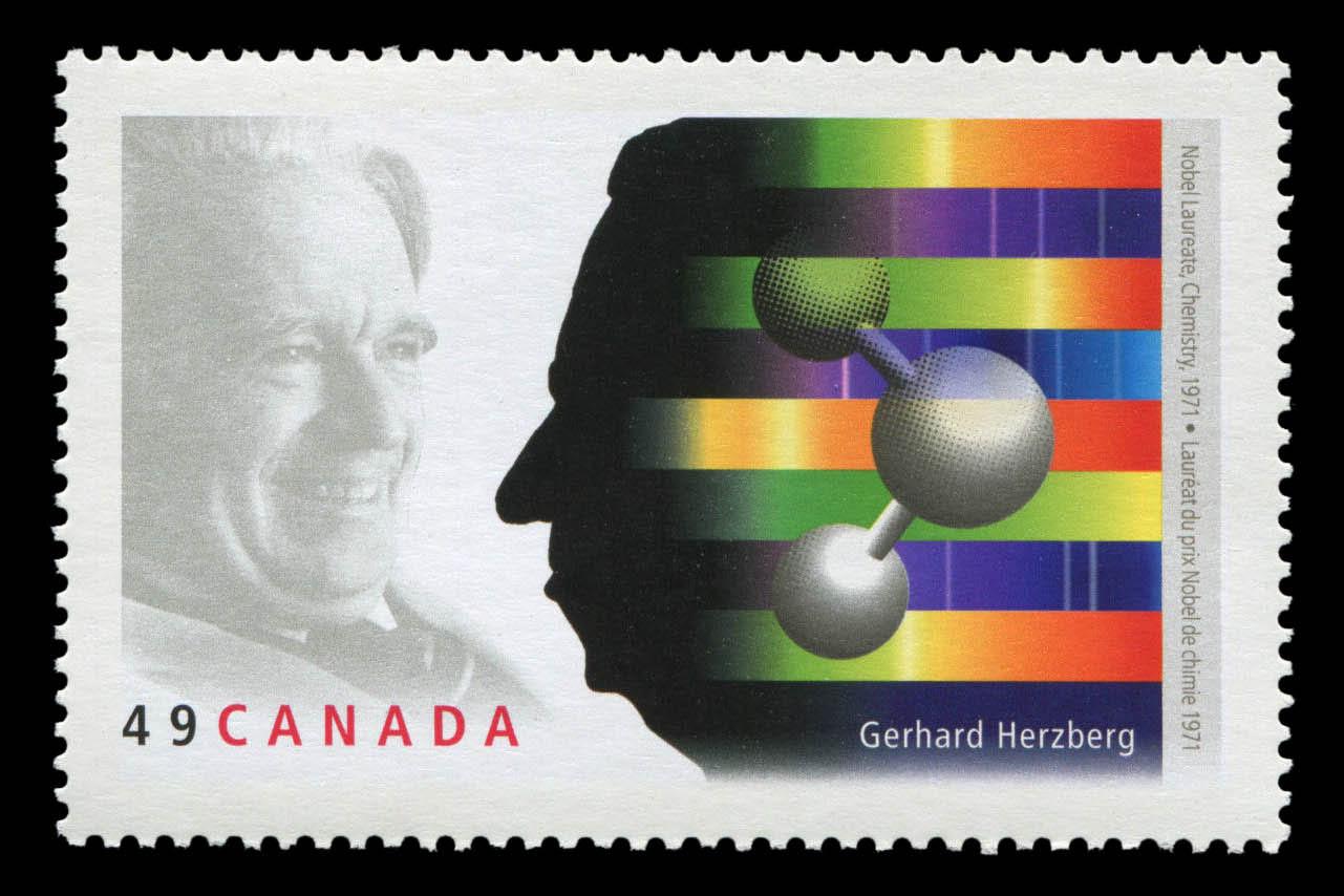 Gerhard Herzberg, Nobel Laureate, Chemistry, 1971 Canada Postage Stamp   Nobel prize winners