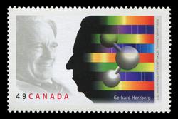 Gerhard Herzberg, Nobel Laureate, Chemistry, 1971 Canada Postage Stamp | Nobel prize winners