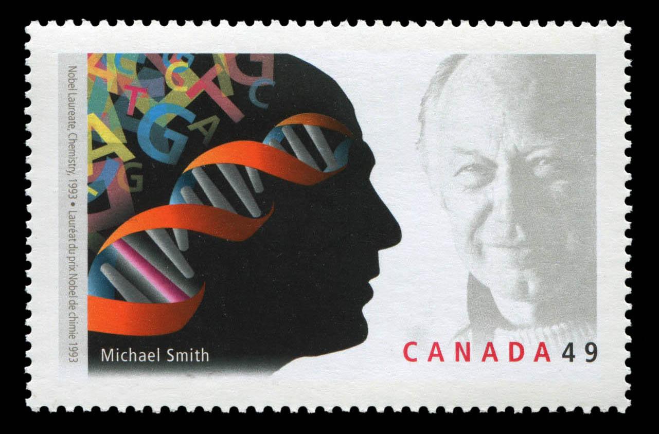 Michael Smith, Nobel Laureate, Chemistry, 1993 Canada Postage Stamp | Nobel prize winners