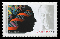 Michael Smith, Nobel Laureate, Chemistry, 1993 Canada Postage Stamp | Nobel prize winners