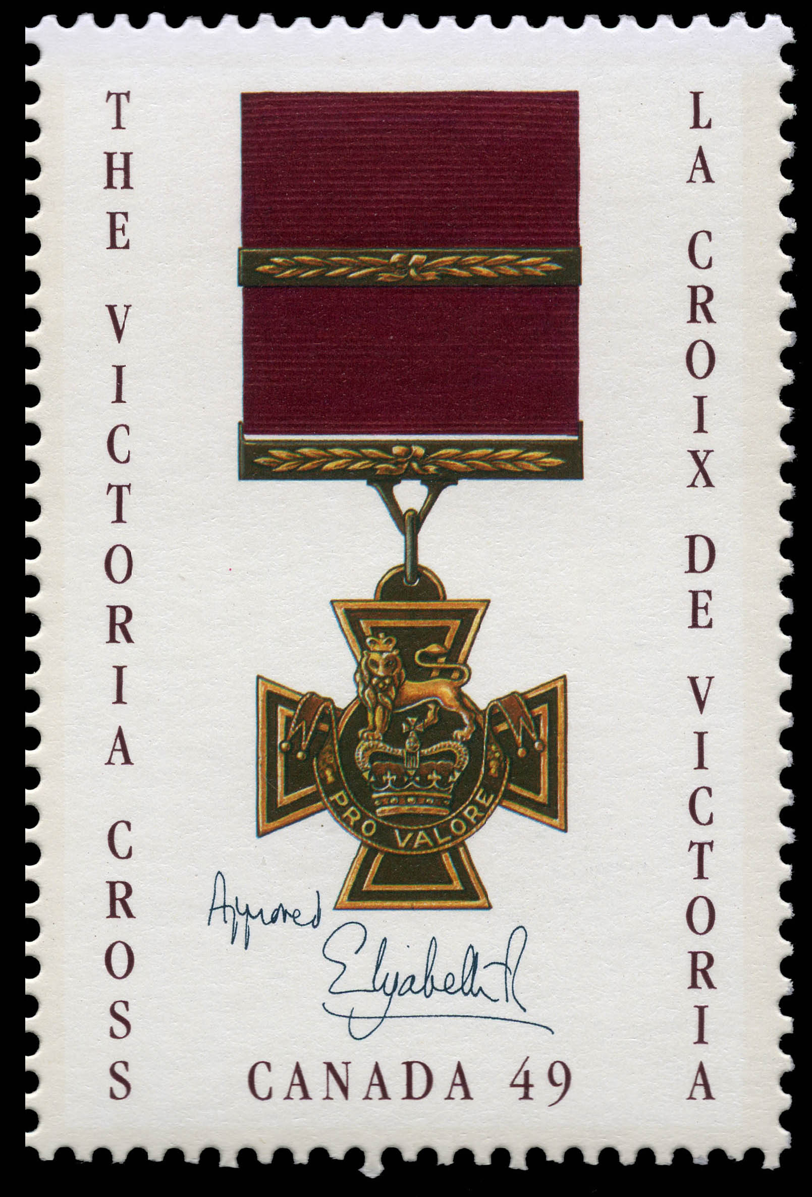 The Canadian Victoria Cross Canada Postage Stamp