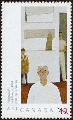 Self-Portrait, 1974, Jean Paul Lemieux Canada Postage Stamp | Art Canada