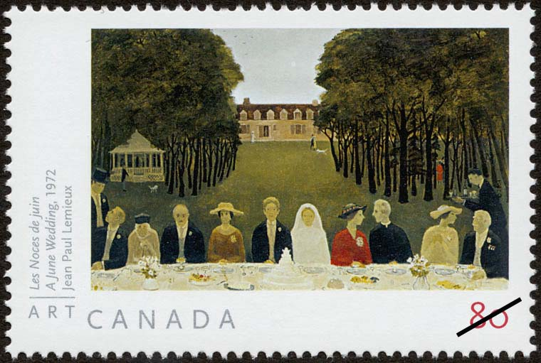 A June Wedding, 1972, Jean Paul Lemieux Canada Postage Stamp | Art Canada