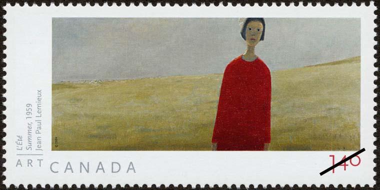 Summer, 1959, Jean Paul Lemieux Canada Postage Stamp | Art Canada