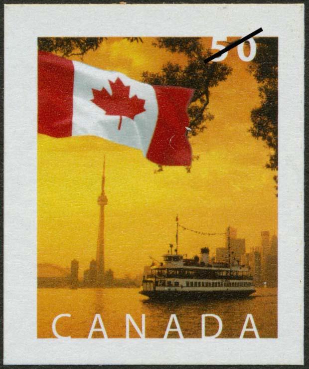 Toronto's skyline, Ontario Canada Postage Stamp | Flag