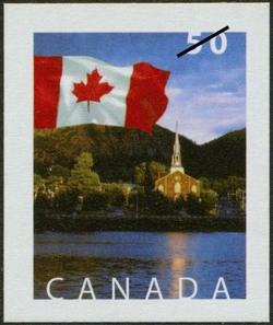 Mont-Saint-Hilaire, Quebec Canada Postage Stamp | Flag
