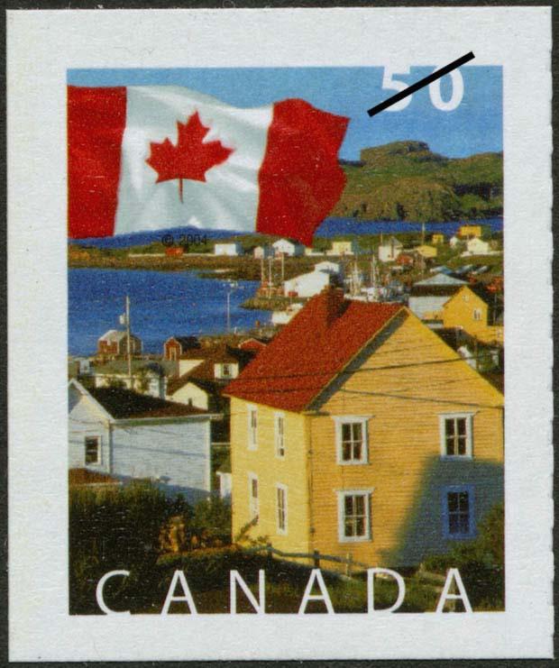 Durrell, Newfoundland and Labrador Canada Postage Stamp | Flag