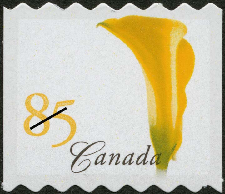 Yellow Calla Lily Canada Postage Stamp | Flowers