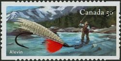 Alevin Canada Postage Stamp | Fishing flies