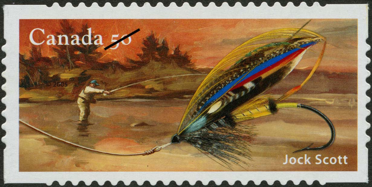 Jock Scott Canada Postage Stamp | Fishing flies