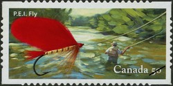 P.E.I. Canada Postage Stamp | Fishing flies
