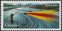 Mickey Finn Canada Postage Stamp | Fishing flies