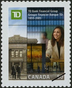 TD Bank Financial Group, 1855-2005 Canada Postage Stamp