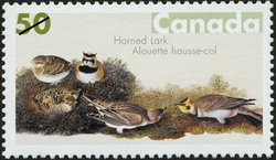 Horned Lark Canada Postage Stamp | John James Audubon's Birds