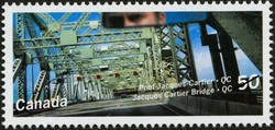 Jacques Cartier Bridge, Quebec Canada Postage Stamp | Bridges