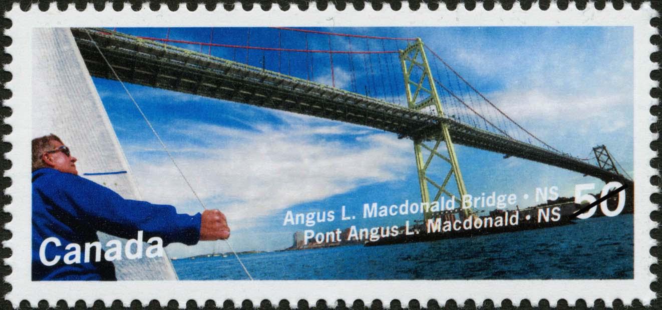 Angus L. Macdonald Bridge, Nova Scotia Canada Postage Stamp | Bridges