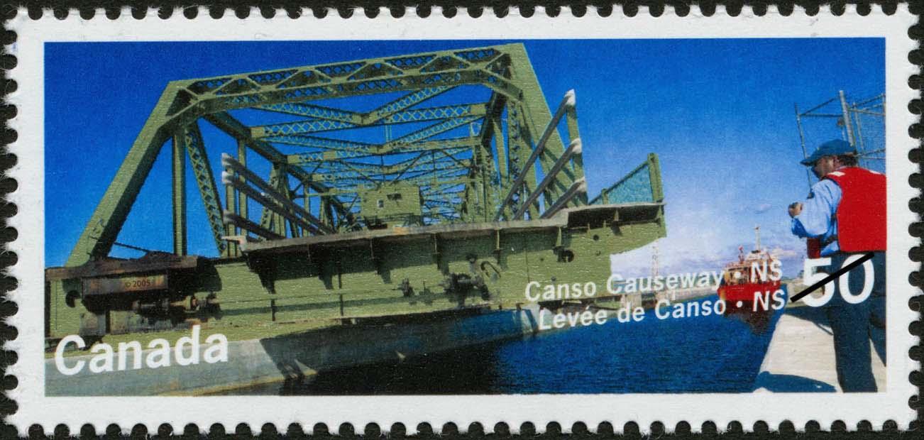 Canso Causeway, Nova Scotia Canada Postage Stamp | Bridges