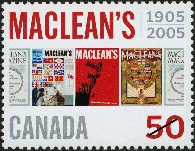 Maclean's, 1905-2005 Canada Postage Stamp