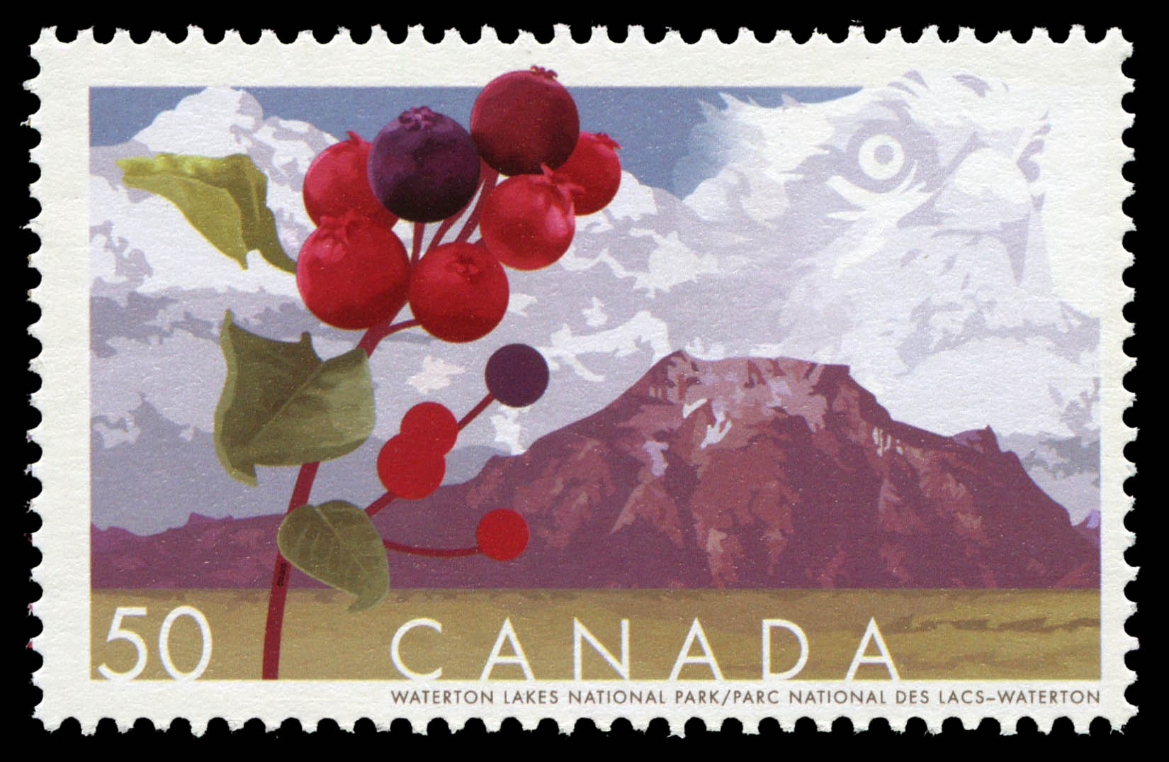 Waterton Lakes National Park Canada Postage Stamp | Biosphere reserves