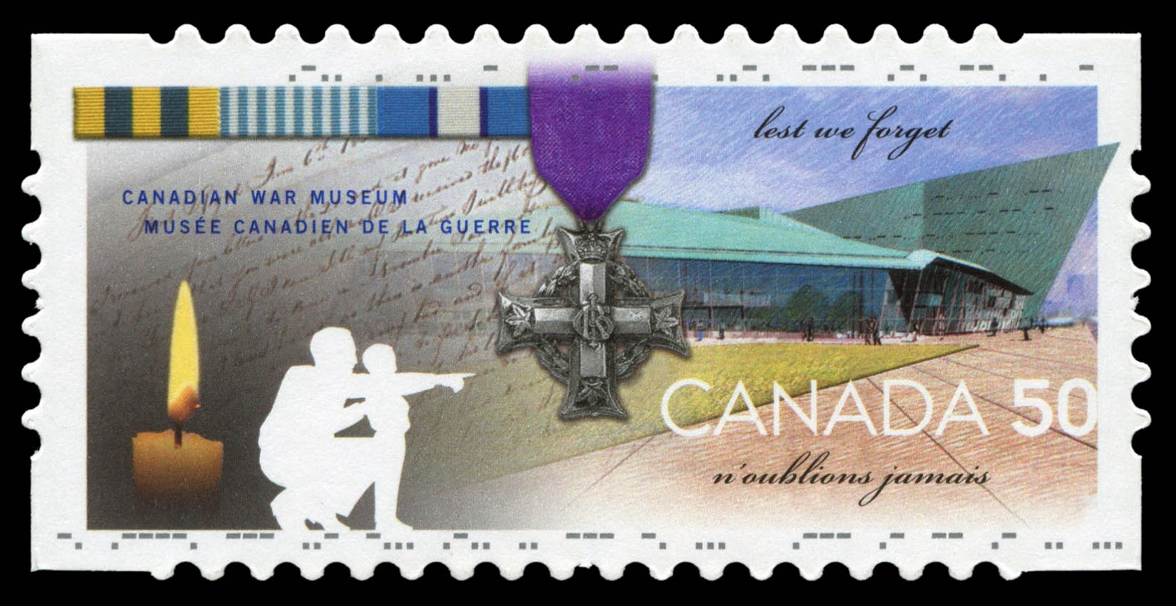 Canadian War Museum, Lest we forget Canada Postage Stamp