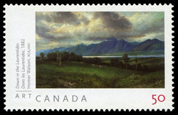 Down in the Laurentides, 1882, Homer Watson, RCA Canada Postage Stamp | Art Canada