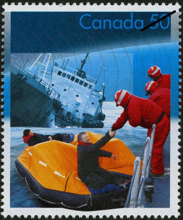 Rescue from the sea Canada Postage Stamp | Search and Rescue