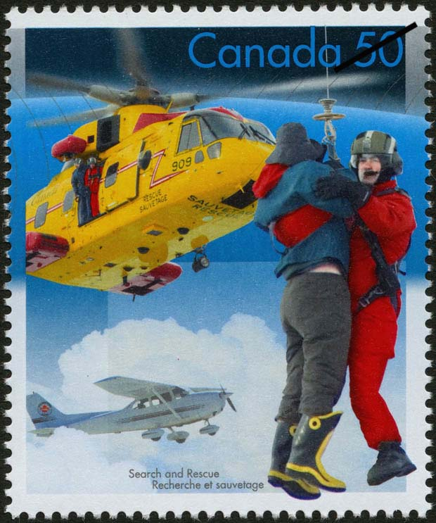 Rescue by air Canada Postage Stamp | Search and Rescue
