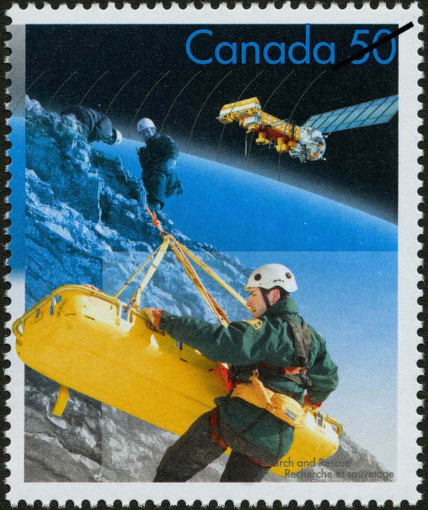 Alpine rescue Canada Postage Stamp | Search and Rescue