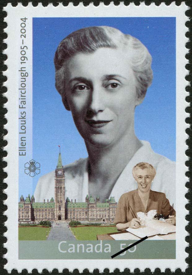 Ellen Louks Fairclough, 1905-2004 Canada Postage Stamp