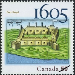 Port-Royal, 1605 Canada Postage Stamp | French settlements in North America