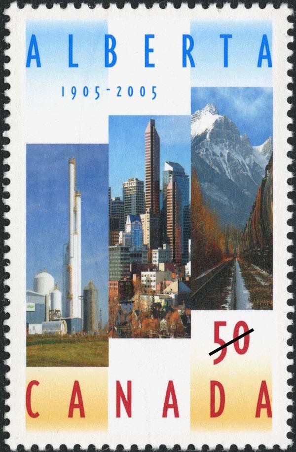 Alberta, 1905-2005 Canada Postage Stamp