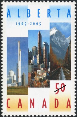 Alberta, 1905-2005 Canada Postage Stamp