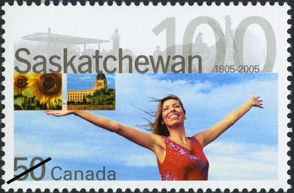 Saskatchewan, 1905-2005 Canada Postage Stamp
