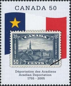 Acadian Deportation, 1755-2005 Canada Postage Stamp