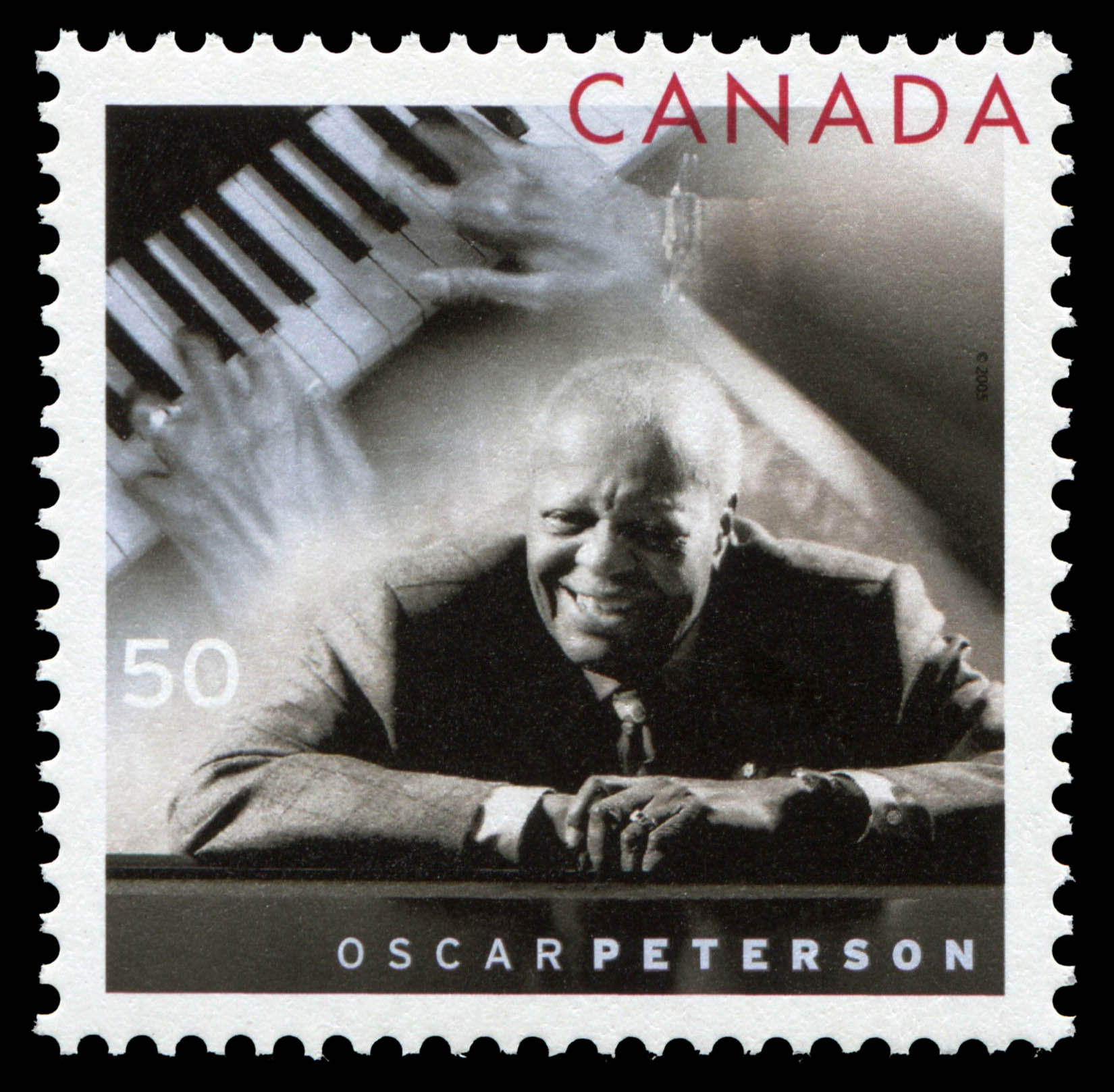 Oscar Peterson Canada Postage Stamp