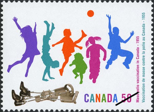 50 years of polio vaccination in Canada Canada Postage Stamp