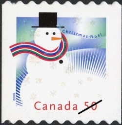 Snowman Canada Postage Stamp | Christmas