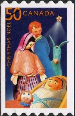 Creche Canada Postage Stamp | Christmas : creches