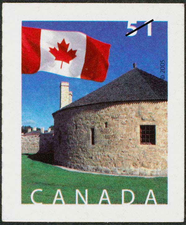 The southwest bastion at the Lower Fort Garry National HistoricSite, Manitoba Canada Postage Stamp | Flag