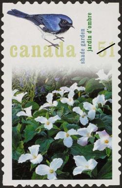 Shade garden Canada Postage Stamp | Gardens