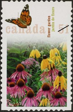 Flower garden Canada Postage Stamp | Gardens