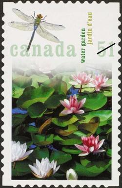 Water garden Canada Postage Stamp | Gardens