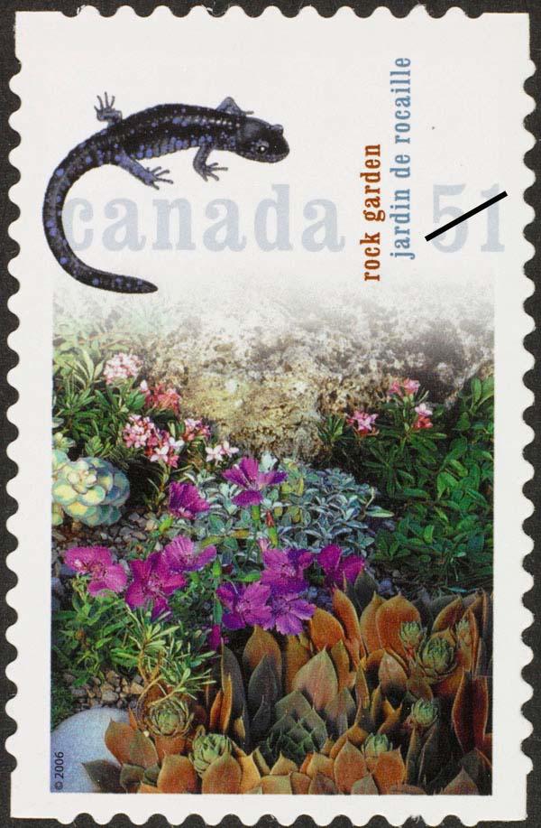 Rock garden Canada Postage Stamp | Gardens