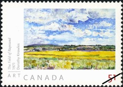 The Field of Rapeseed - Dorothy Knowles Canada Postage Stamp | Art Canada