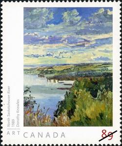 North Saskatchewan River - Dorothy Knowles Canada Postage Stamp | Art Canada